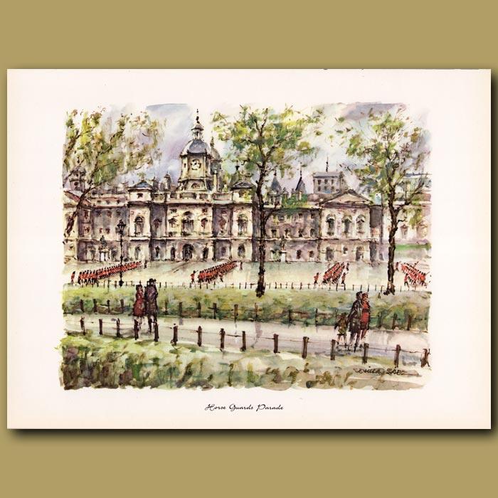 Antique print. Horse Guards Parade