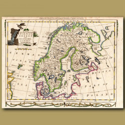 Map Of Norway, Sweden And Denmark