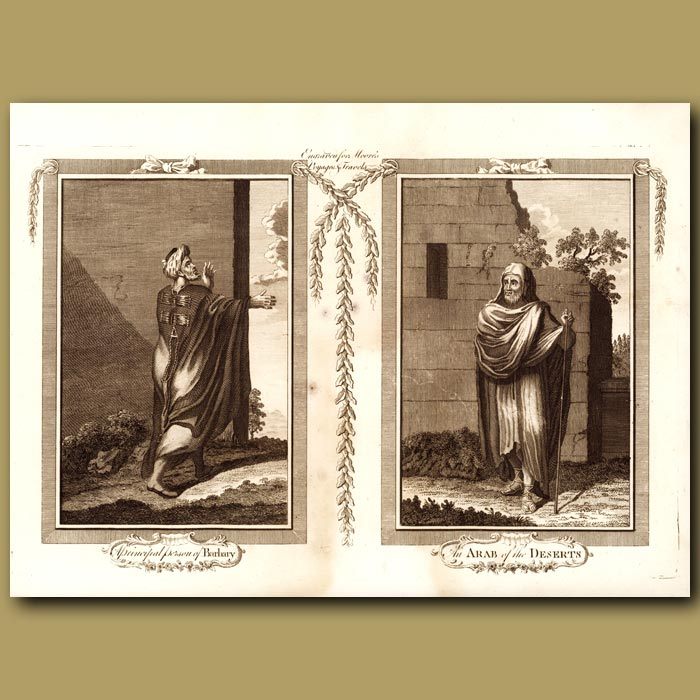 Antique print. Persons Of Barbary And Arabia