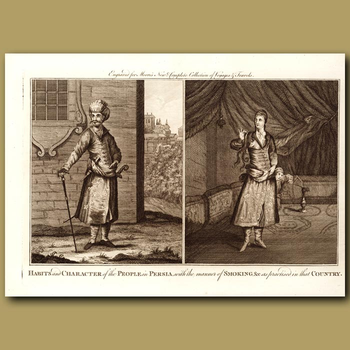 Antique print. People And Habits Of Persia