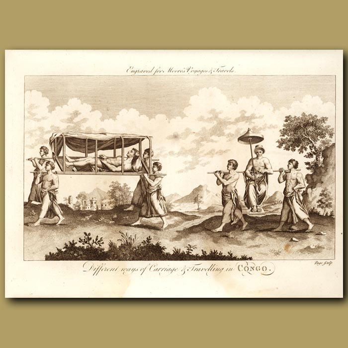 Antique print. The King Of Congo
