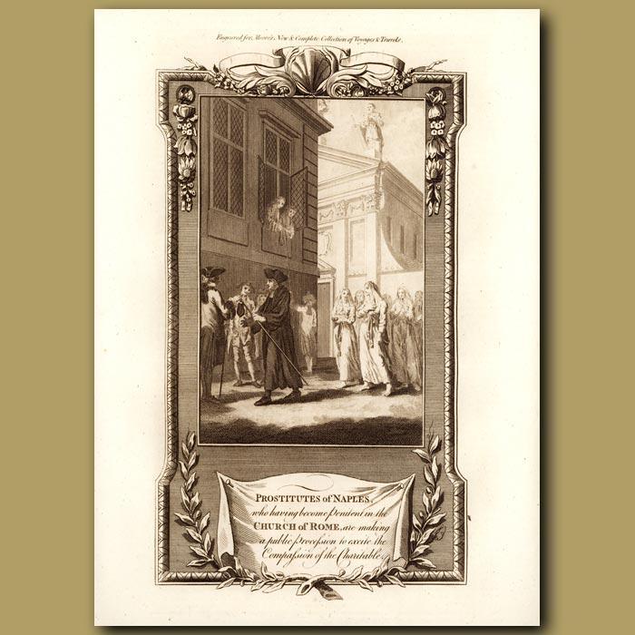 Antique print. Prostitutes Of Naples