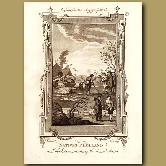 Antique print. Natives Of Holland