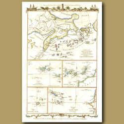 Map Of Kamschatka, Cape Verde, Canary And Azores Islands