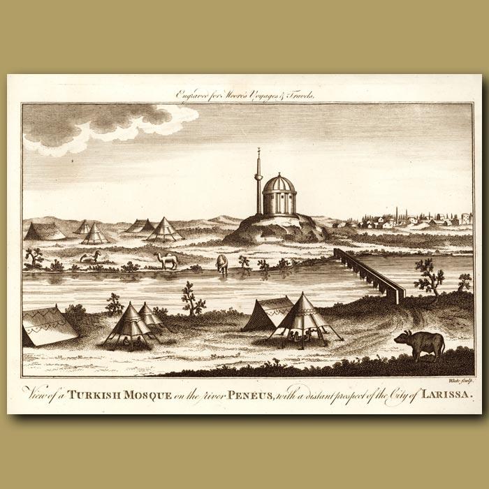 Antique print. Turkish Mosque