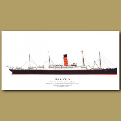 Saxonia: Ocean Liner Passenger Ship From 1900