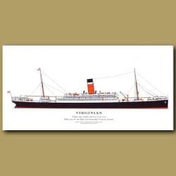 Virginian: Ocean Liner Passenger Ship From 1905