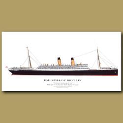 Empress Of Britain: Ocean Liner Passenger Ship From 1906