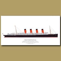 Mauretania: Ocean Liner Passenger Ship From 1907