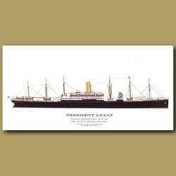 President Grant: Ocean Liner Passenger Ship From 1907