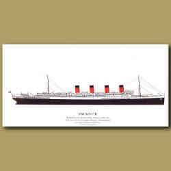 France: Ocean Liner Passenger Ship From 1912