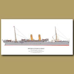 Bergensfjord: Ocean Liner Passenger Ship From 1913