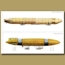 Airship: Zeppelin LZ10 'Schwaben' and Schutte-Lanz SL1 1911