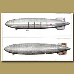 Airship: Goodyear Zeppelin ZRS 4 1931 and Zeppelin LZ129 'Hindenburg' 1936