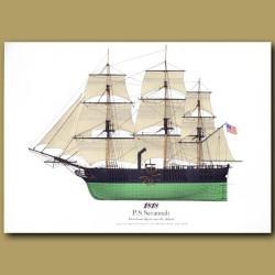 Paddle Steamer Savannah 1818