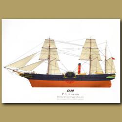 Paddle Steamer Britannia 1840