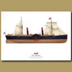 Paddle Steamer Adriatic 1856