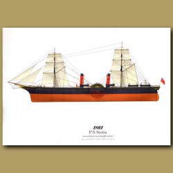Paddle Steamer Scotia 1861
