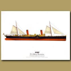 Paddle Steamer Marie Henriette 1893
