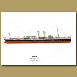 Paddle Steamer Devonia 1905