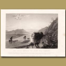 The Ganges entering the plains near Hurdwar
