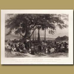 Arrival of Sikh irregular cavalry