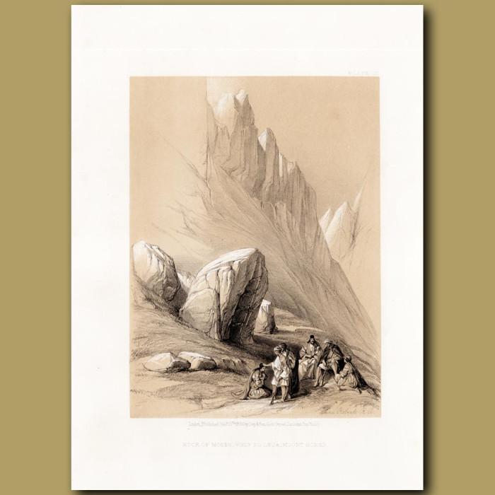 Rock Of Moses, Wady-El-Leja, Mount Horer