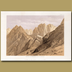 Ascent Of The Lower Range Of Mount Sinai
