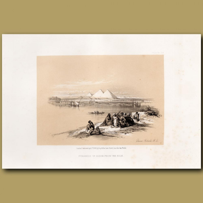 Pyramids Of Geezeh, From The Nile.