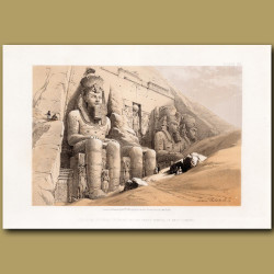 Colossal Figures In Front Of The Great Temple Of Aboo-simbel