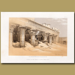 Portico Of The Temple Of Edfou, Upper Egypt.