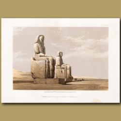 Thebes. The Colossal Statues Of Amunoph iii.