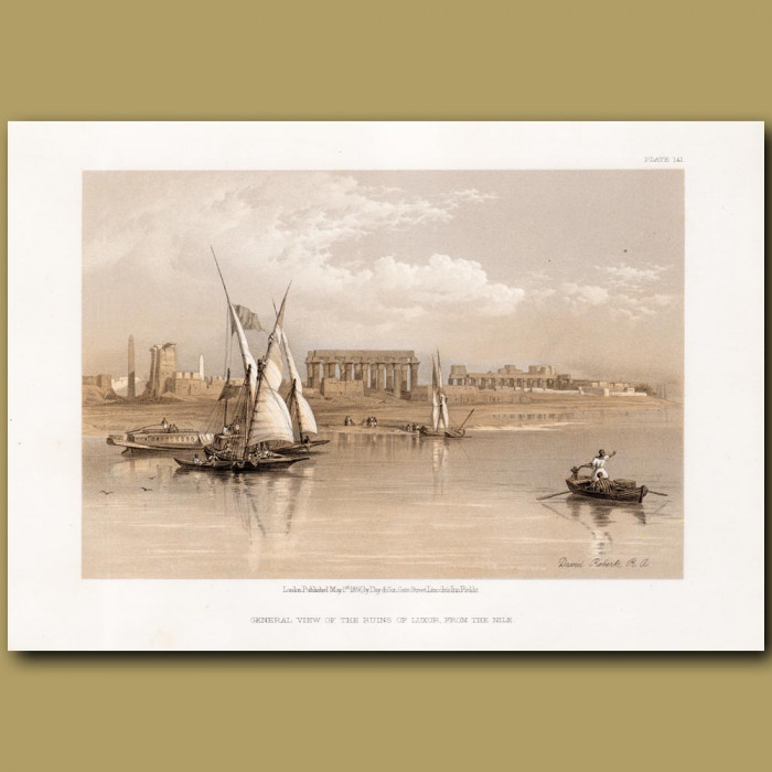 General View Of The Ruins Of Luxor, From The Nile