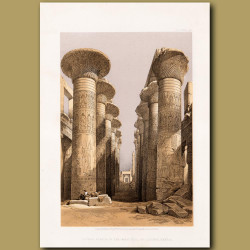 Central Avenue Of The Great Hall Of Columns, Karnak.