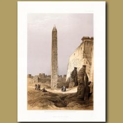 Obelisk At Luxor.