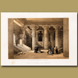 Interior Of The Temple Of Esne, In Upper Egypt.