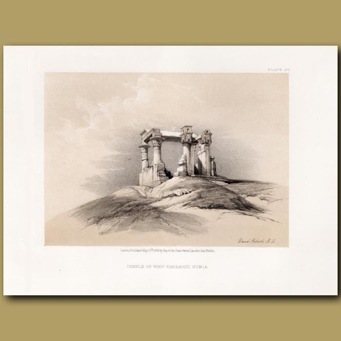 Temple Of Wady Kardassy, Nubia.