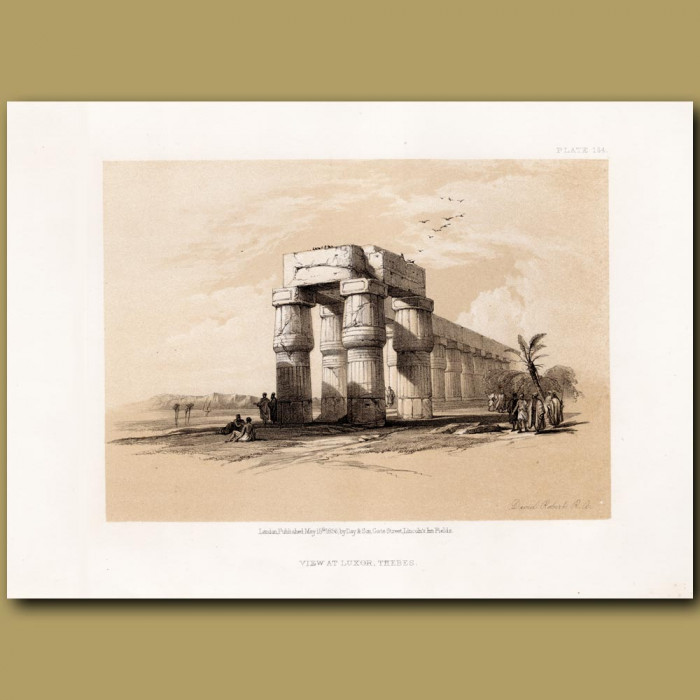 At Luxor, Thebes.