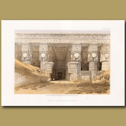 Portico Or The Temple At Dendera.