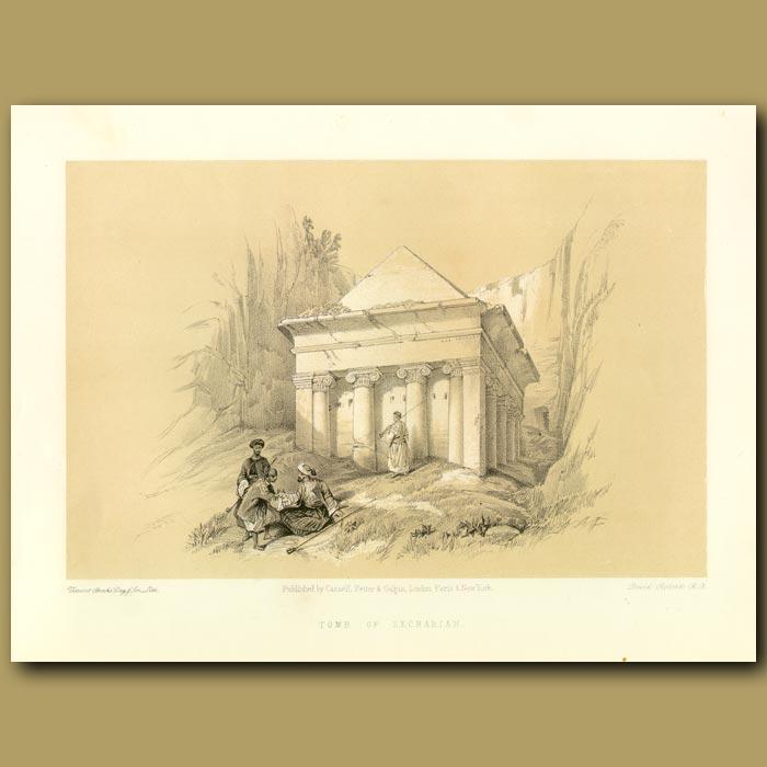 Antique print. Tomb Of Zechariah