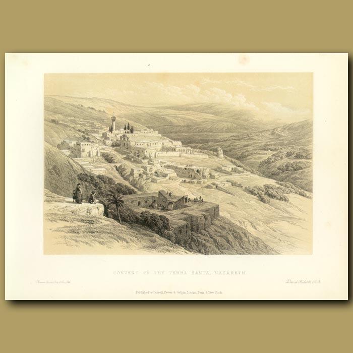 Antique print. Convent Of The Terra Santa, Nazareth