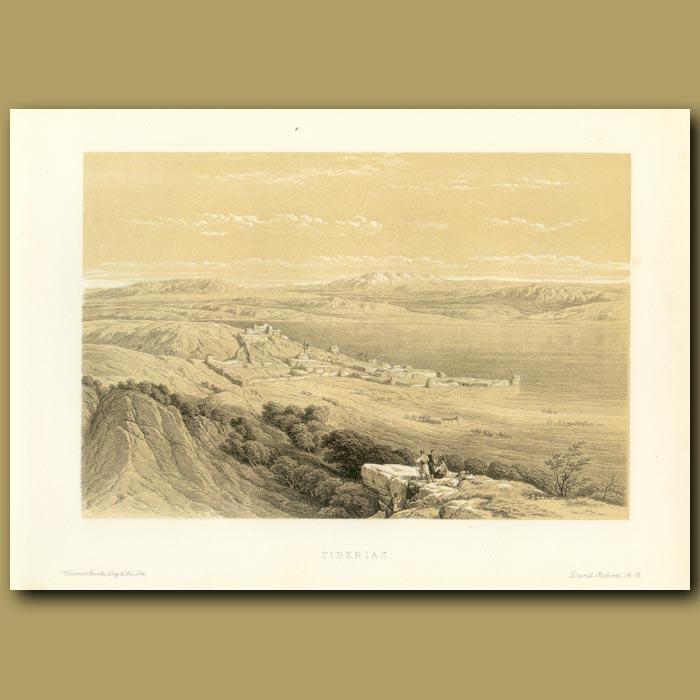 Antique print. Tiberias