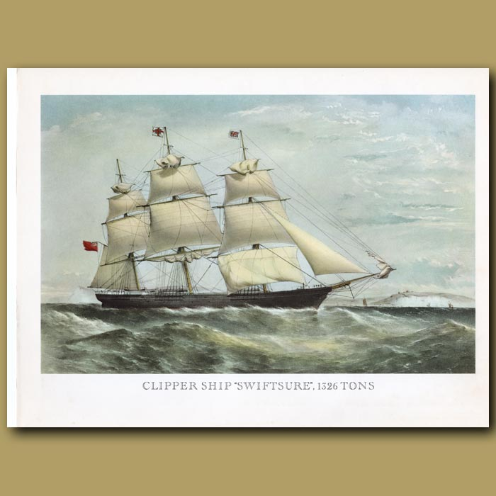 Antique print. Clipper Ship Swiftsure