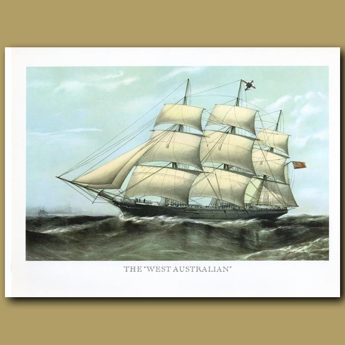 Antique print. Clipper Ship West Australian