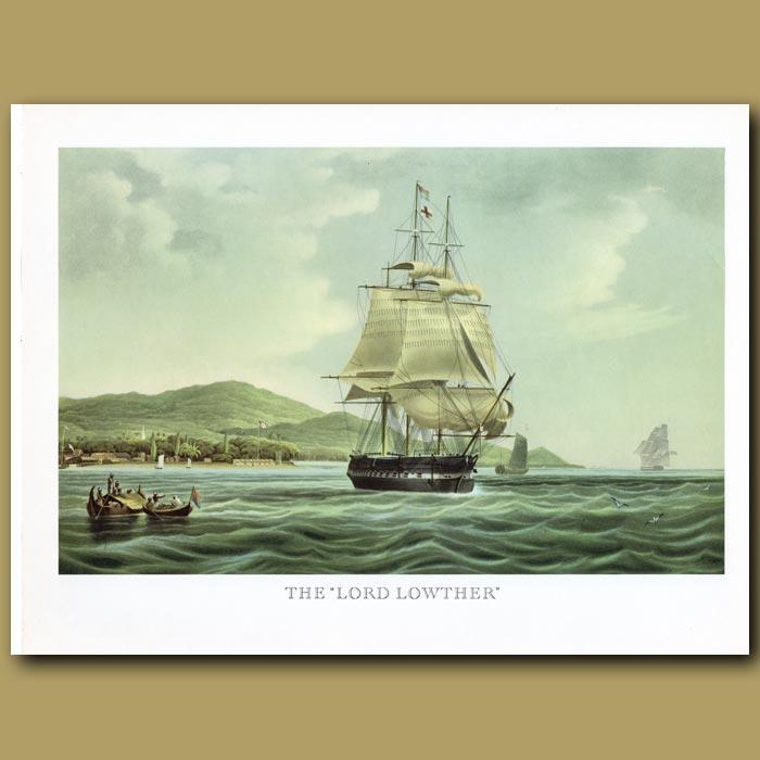 Antique print. Indiaman Ship