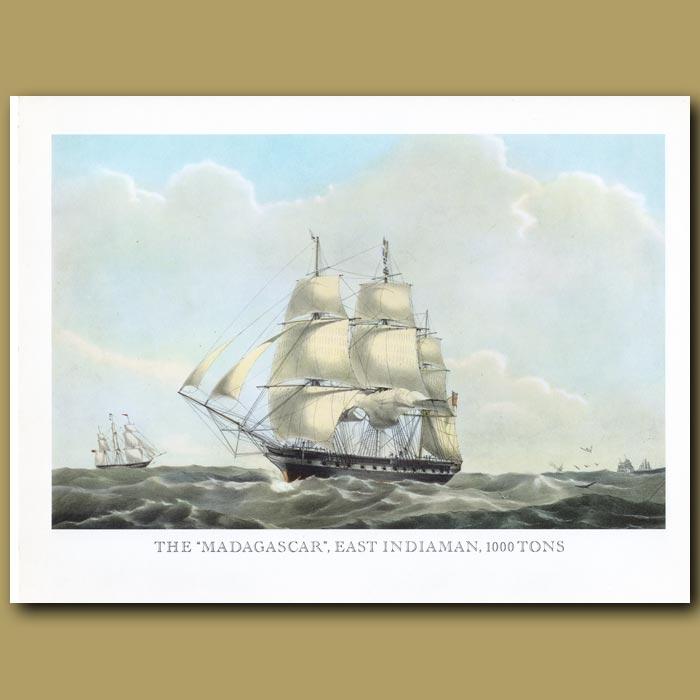 Antique print. East Indiaman Ship Madagascar