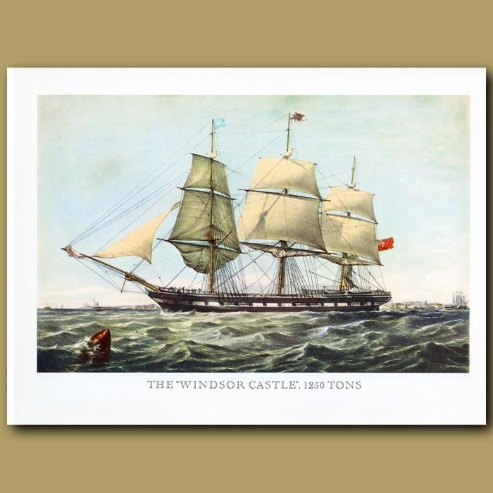 Antique print. Ship Windsor Castle