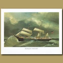 Barque Ship Henry