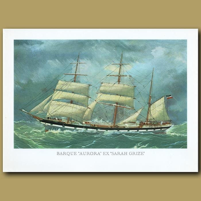 Antique print. Barque Ship Aurora