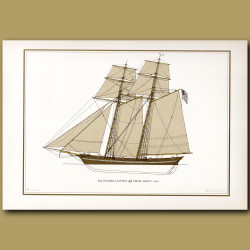 Baltimore Clipper from about 1820